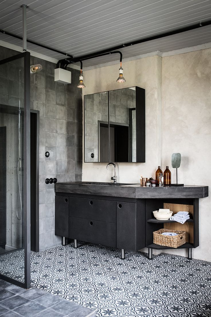Badezimmer Industrial Interiors Homey Pinterest Bathroom Industrial House And