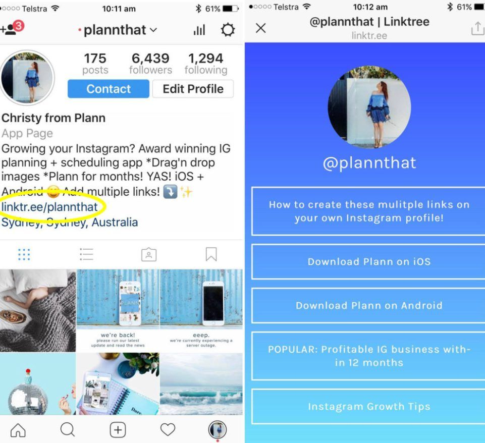 Tutorial how to add multiple links on instagram