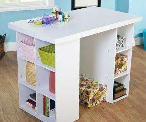 14 Amazing Tall Craft Table Foto Ideas Craft Tables With Storage Craft Table Diy Craft Table