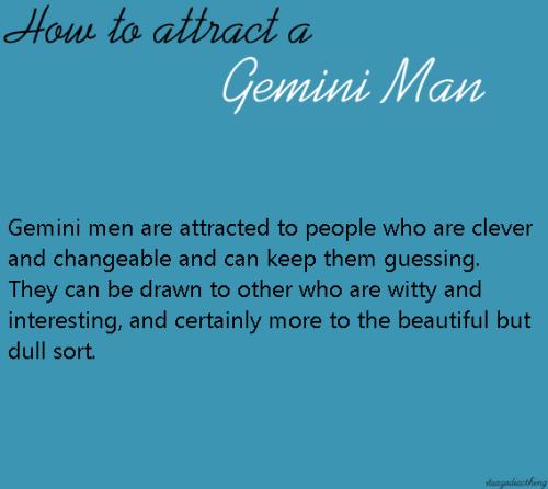 General Traits of Gemini Men