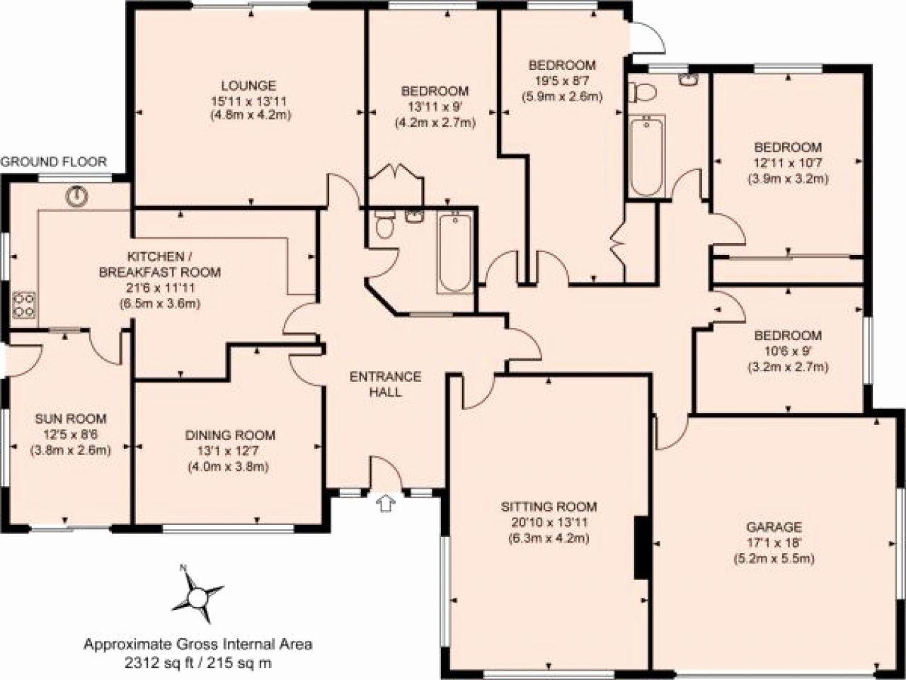 Floor Plans For 4 Bedroom Houses Bungalow Floor Plans House Plans Uk Bungalow House Plans