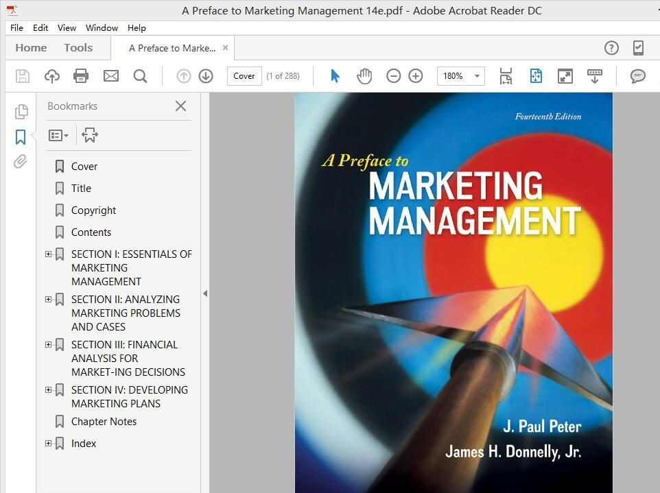 A preface to marketing management 14th edition by j paul peter a preface to marketing management 14th edition by j paul peter author fandeluxe Choice Image