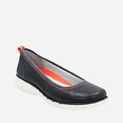 Un Elita Navy Leather - Women's Flats - Clarks® Shoes