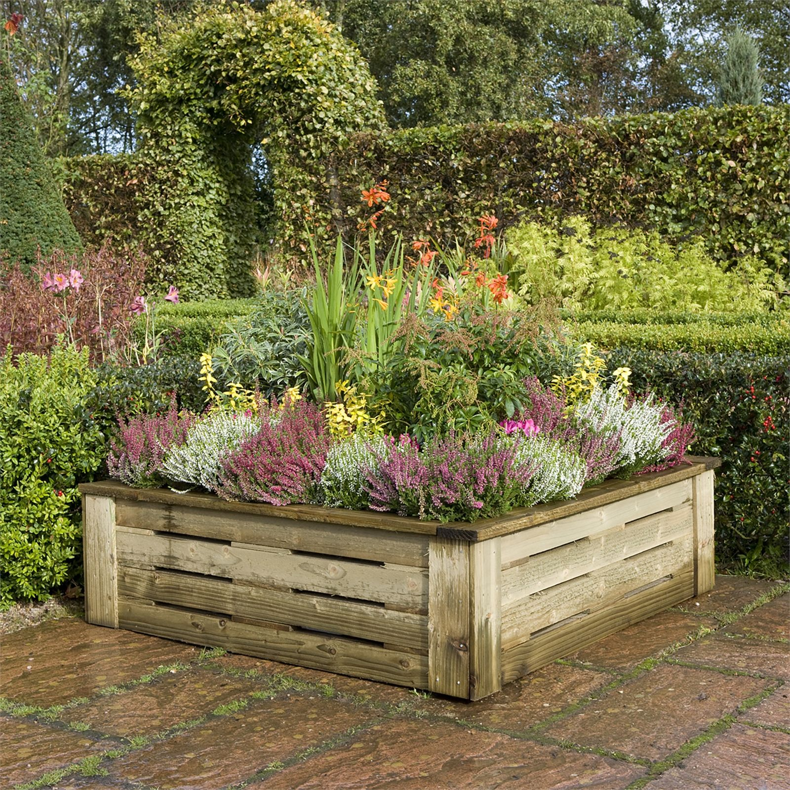 Rowlinson Raised Planter 4x4ft Raised Planter Garden Planters