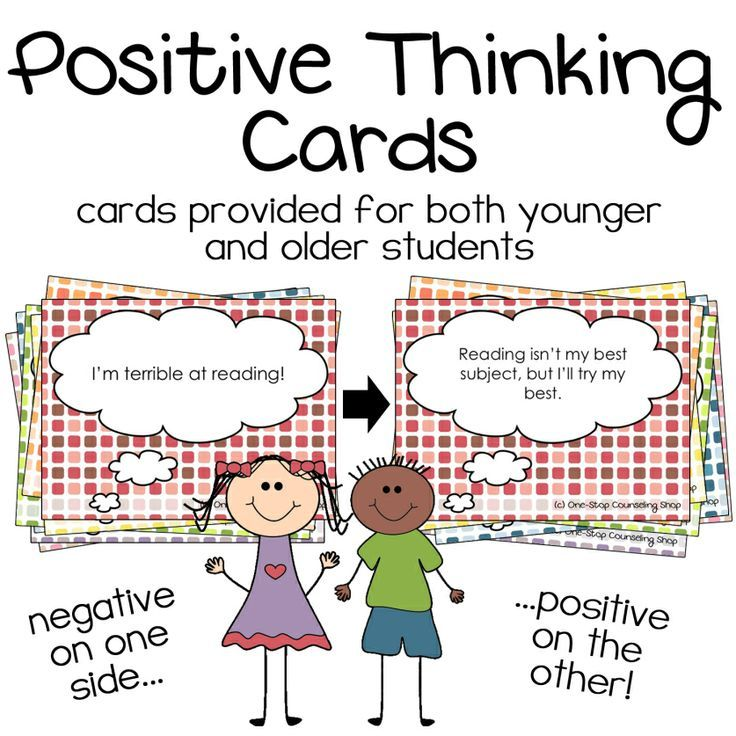 New Product Positive Thinking Cards Counseling