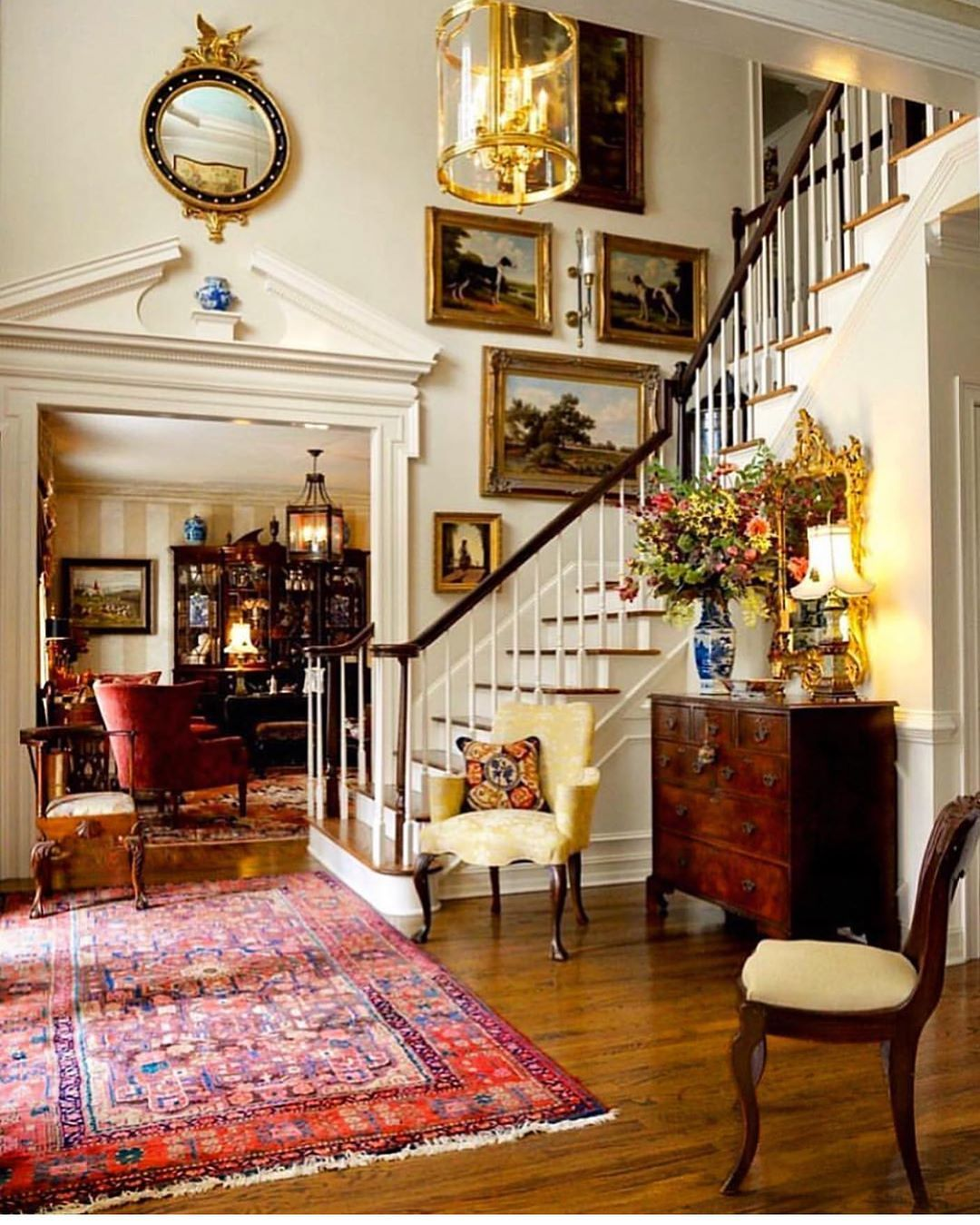Glamours Traditional Foyer Designed By The Interior Designer And