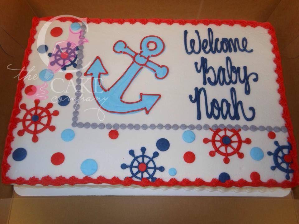 Nautical Baby shower cake Baby showers and Anniversary Cakes