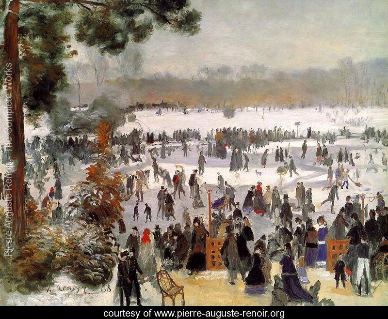 Skaters In The Bois De Boulogne  Pierre Auguste Renoir