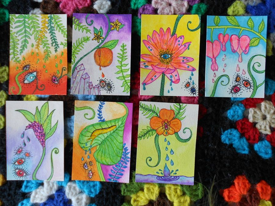 artist trading cards by botanicalbones atc and tags pinterest