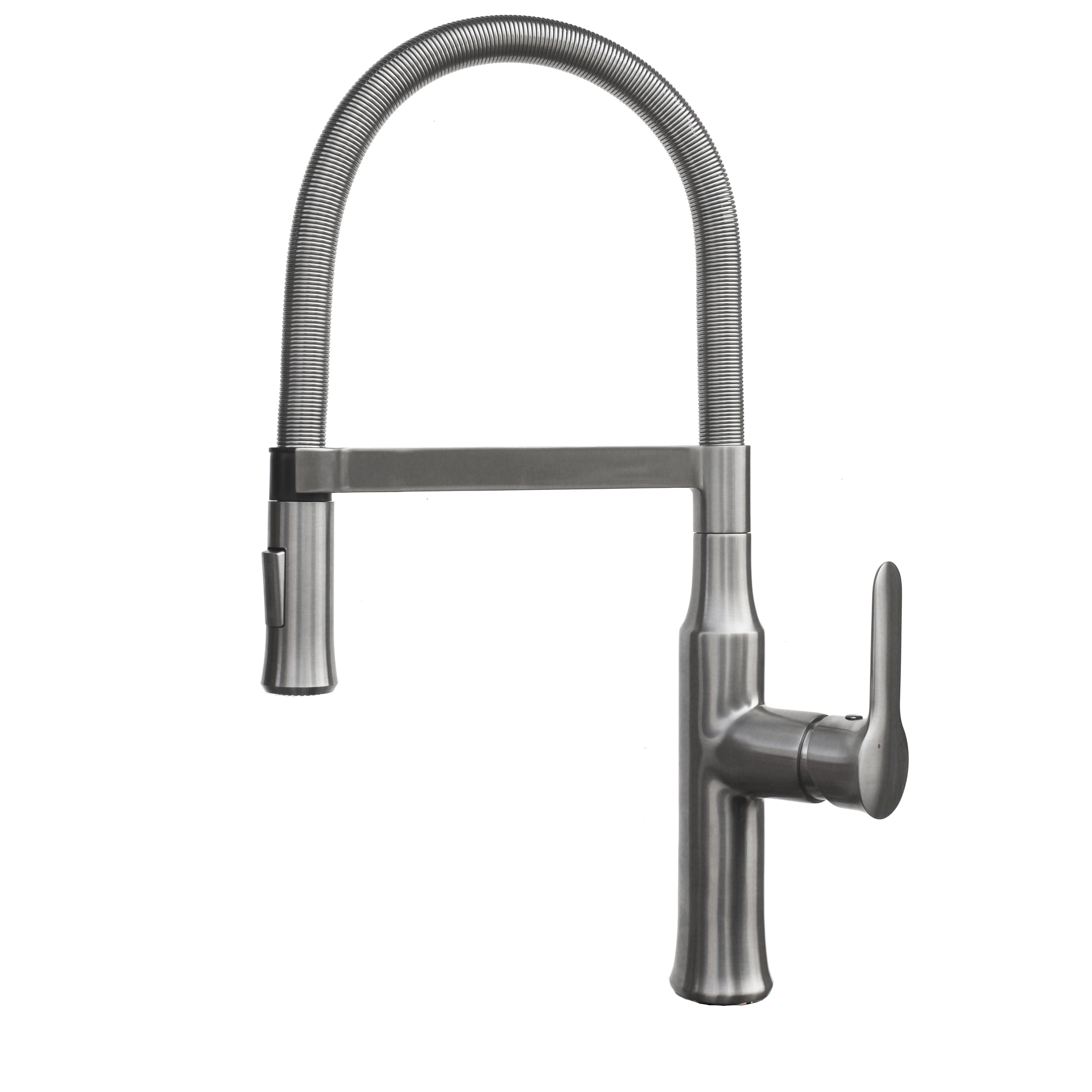 Coiled Kitchen Faucet New York Loft Design Geyser Tf61 B Brushed Nickel Commercial Style