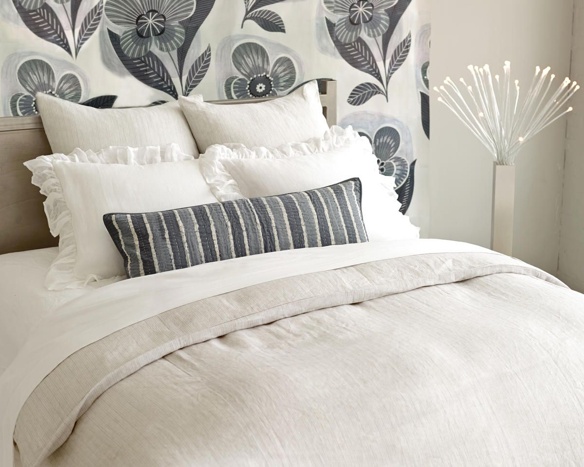 New From Pine Cone Hill Pinstripe Linen Duvet Cover Shams