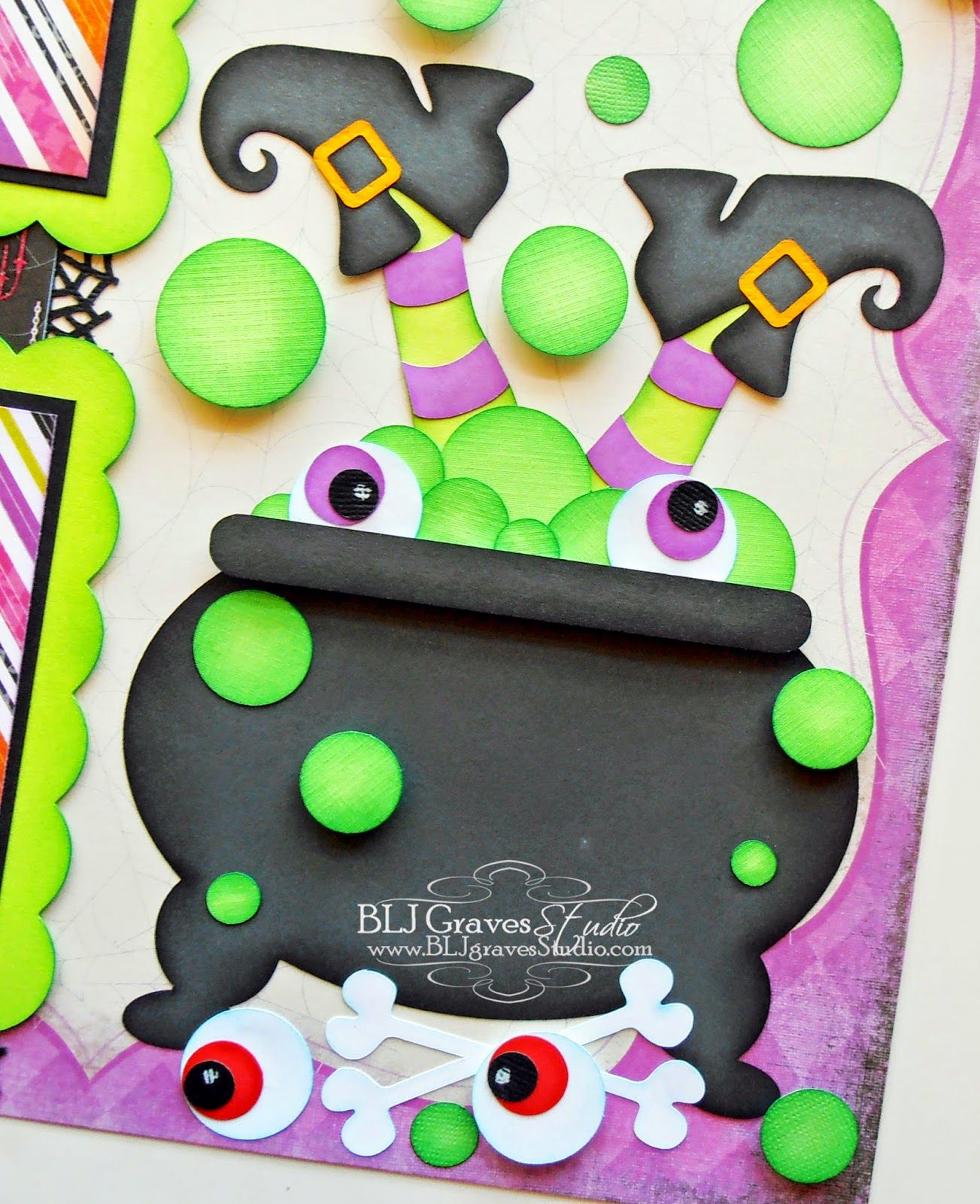 Witches Brew Halloween Scrapbook Page