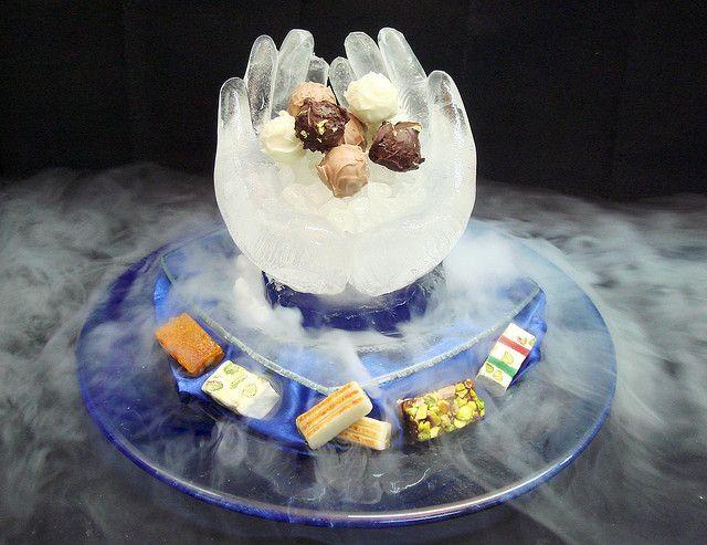 Pralines On Dry Ice Dessert Presentation Yummy Food Food