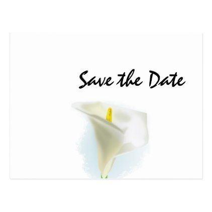 #savethedate #postcards - #Cala Lily Wedding Day Theme Save the Date Postcard