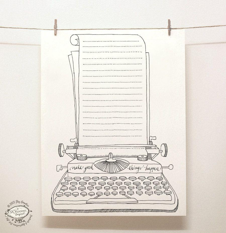 DOODLE Note Paper Sheets: Set Of 4 Unique Designs