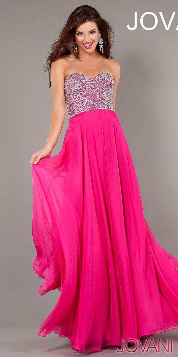 JOVANI EELGANT STRAPLESS DRESS (3740)   Pink & Peach   Pinterest ...