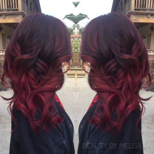 60 Best Ombre Hair Color Ideas For Blond Brown Red And Black Hair Dark Red Hair Color Hair Styles Ombre Hair
