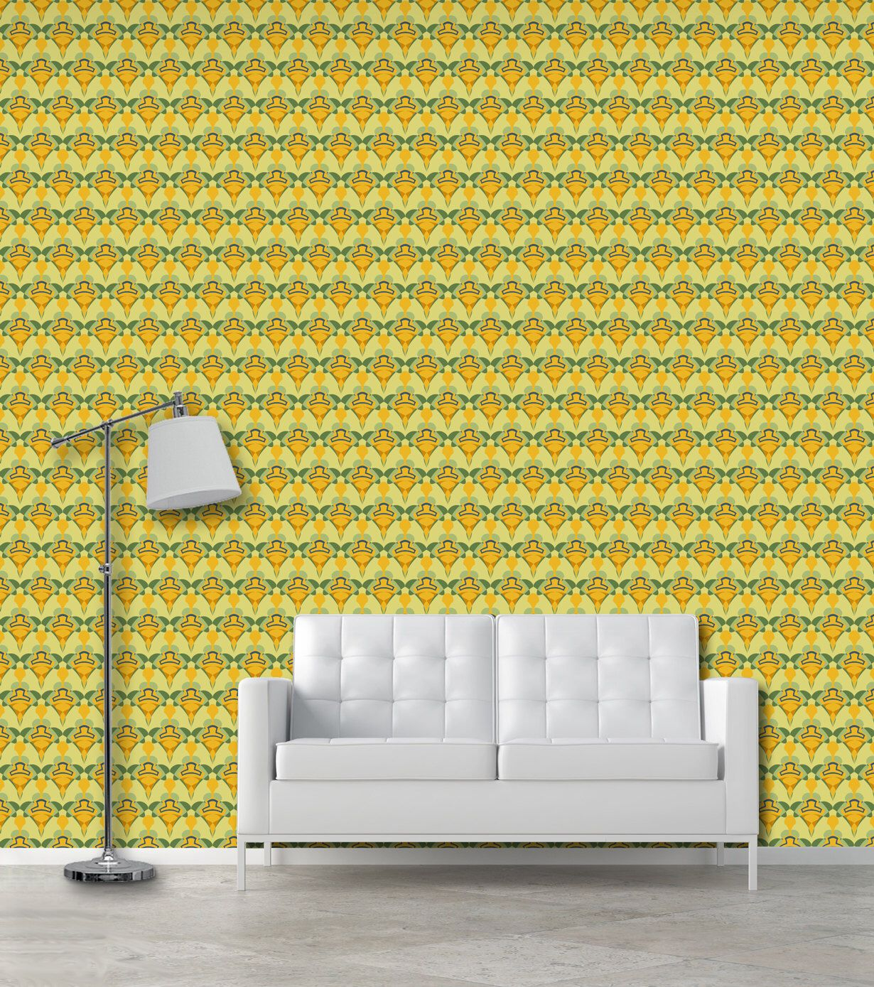 Art Deco wall pattern self adhesive vinyl wallpaper removable decal ...