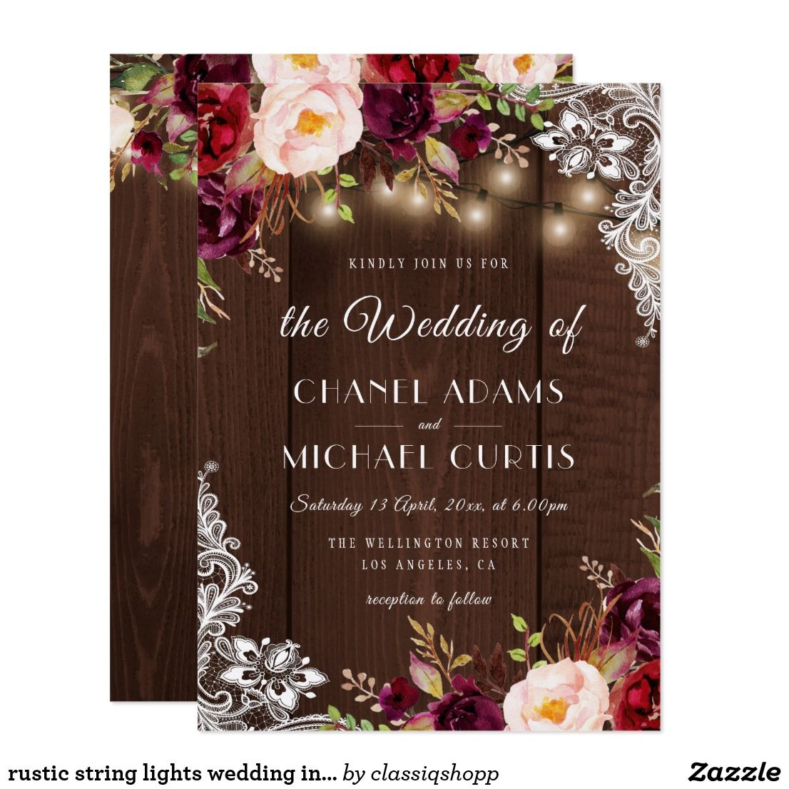 Pin on NiceLooking String Lights Themed Wedding