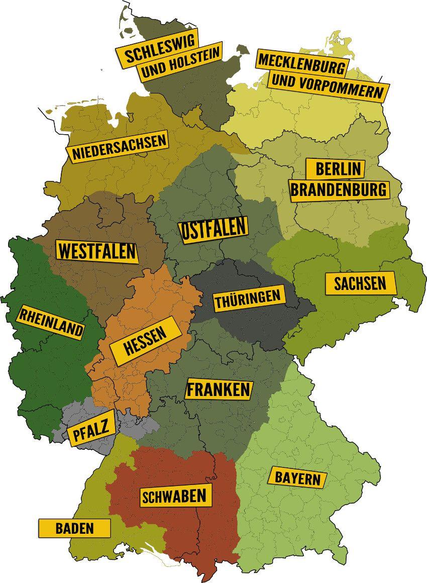 Struktur Landkarte Deutschland Karte Deutschland Geografie