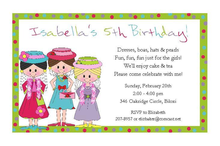 Dress up girls invitations 2 fashion show tea party 2925 via dress up girls invitations for girls birthday party fashion show filmwisefo Gallery