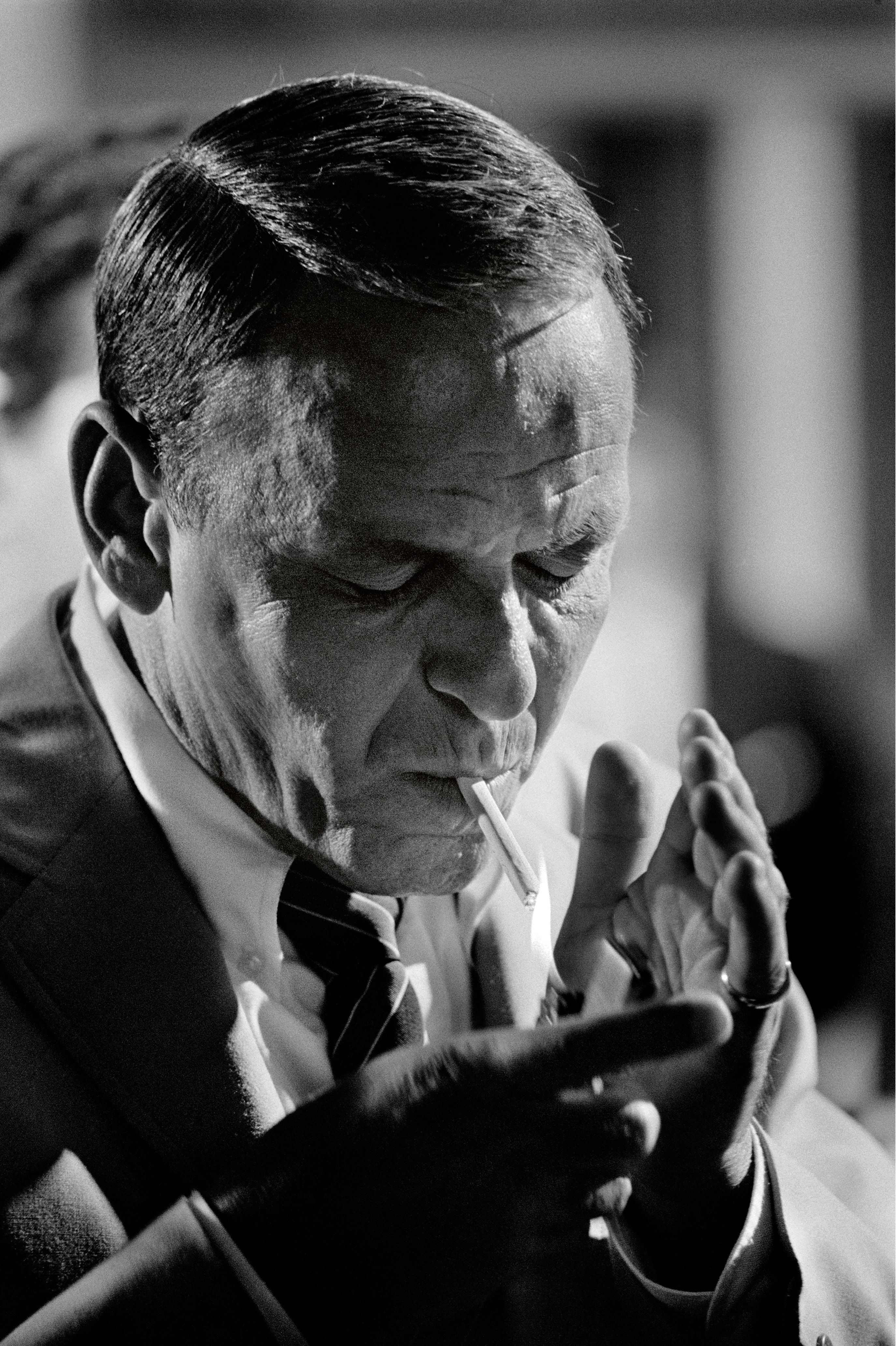 Terry O'Neill (British, b.1938) Frank Sinatra Smoking, Miami, 1968 Terry  O'Neill is best known for his celebrity portraits