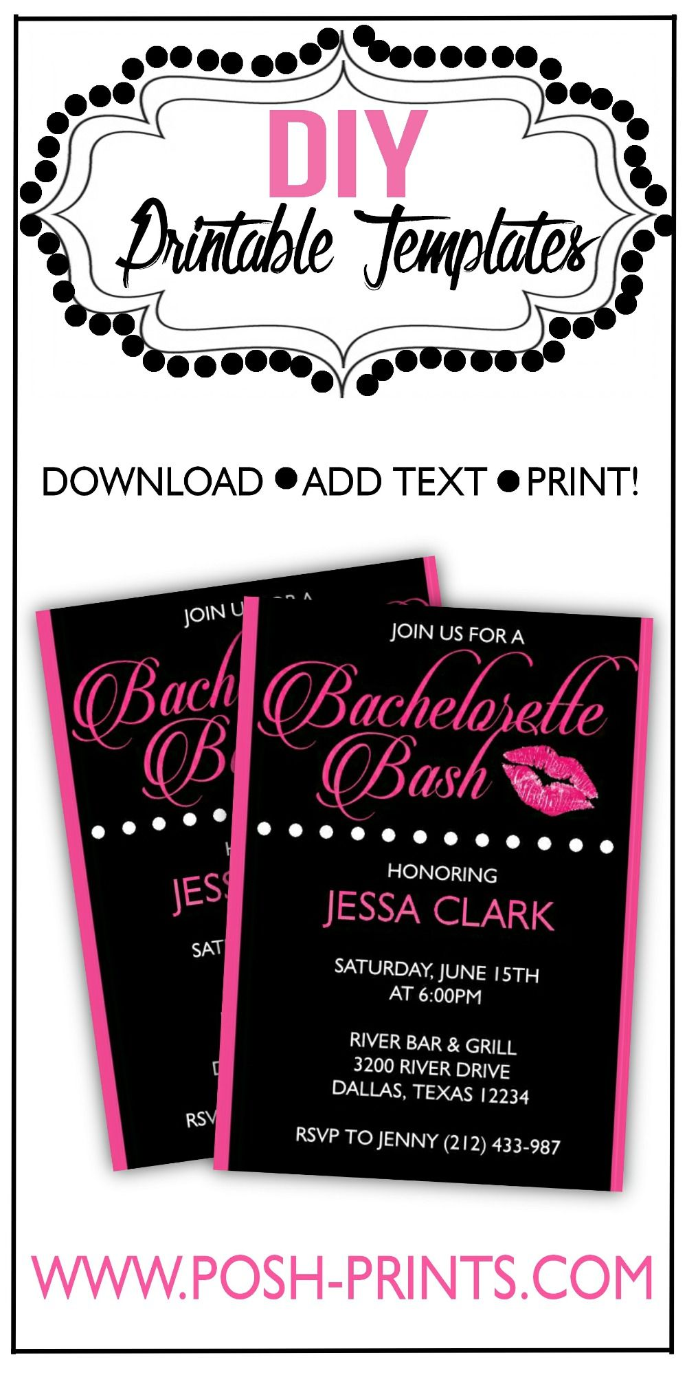 Printable Bachelorette Party Invitation | Our Business Followers ...