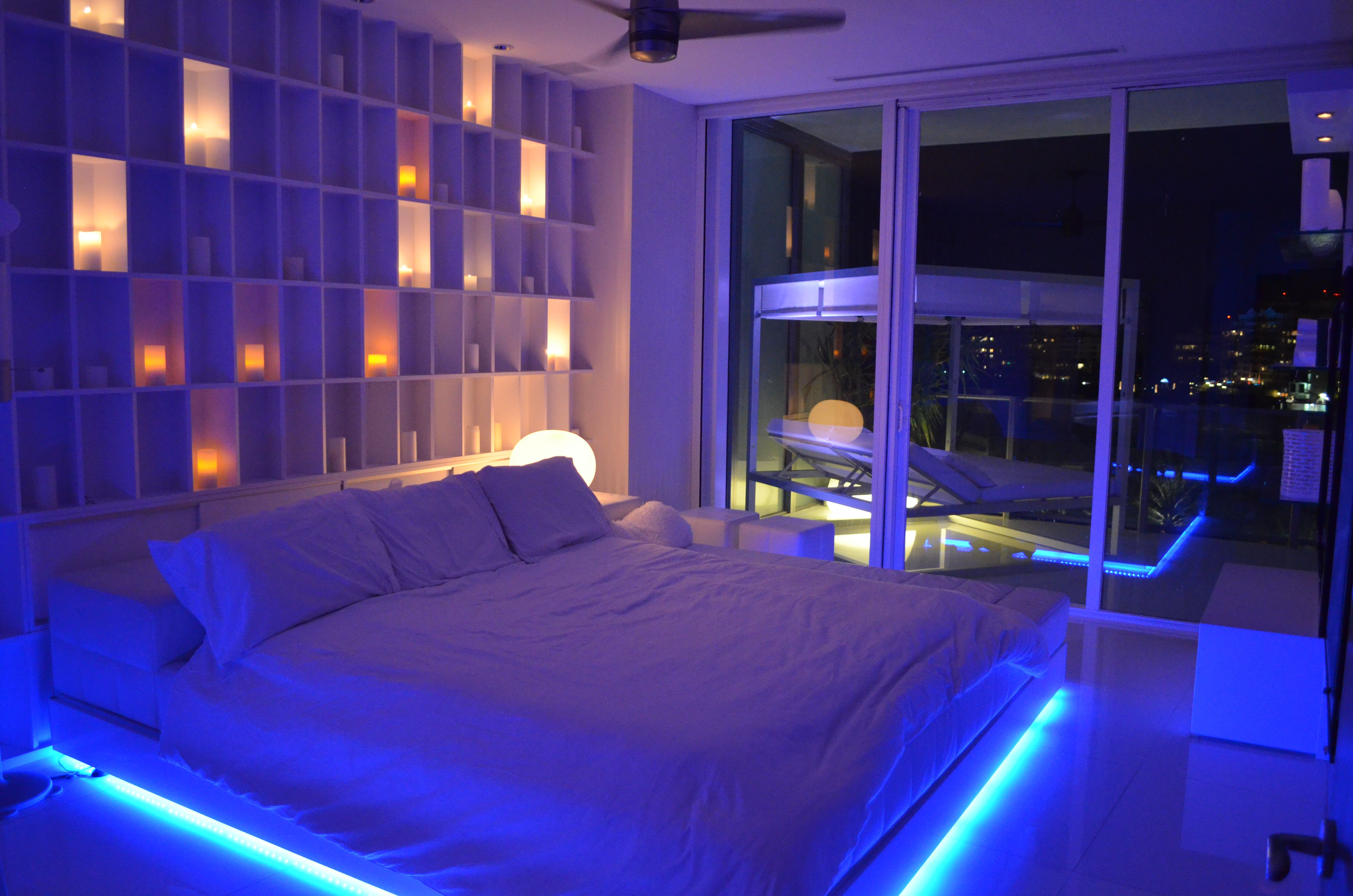 Master Bedroom / Night Time / LED Lighting Accents ...