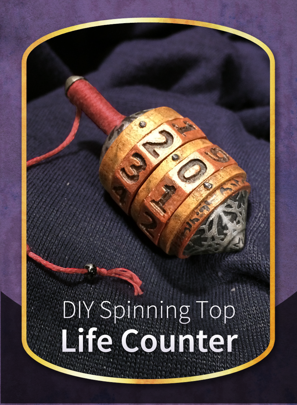 Announcing: the DIY Spinning Top Life Counter for #mtg #cmjdiy http://cardamajigs.com/products/diytop