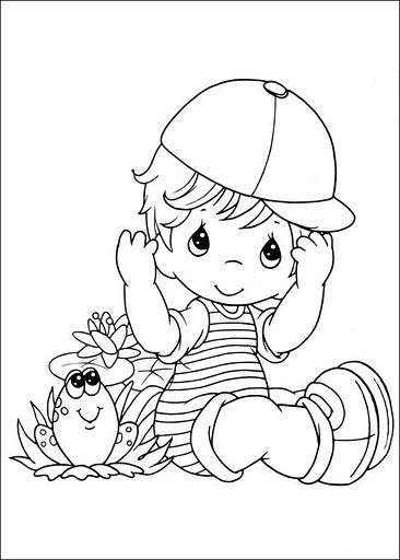 Dibujos infantiles de precious Moments para colorear; sew, trace, colouring, drawing