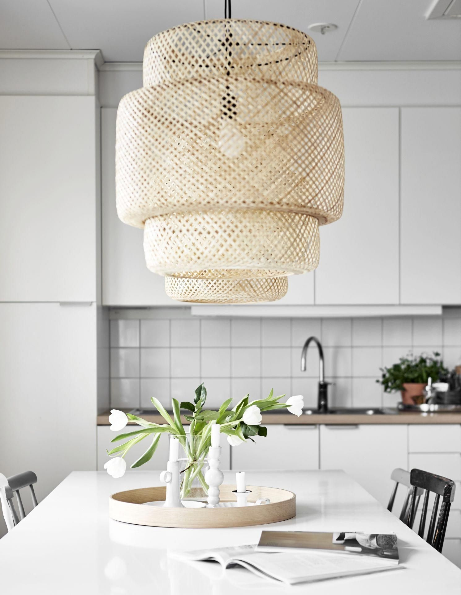 Led Hanglamp Ikea Sinnerlig Hanglamp Bamboe In 2019 Led Lamp Small Bedroom