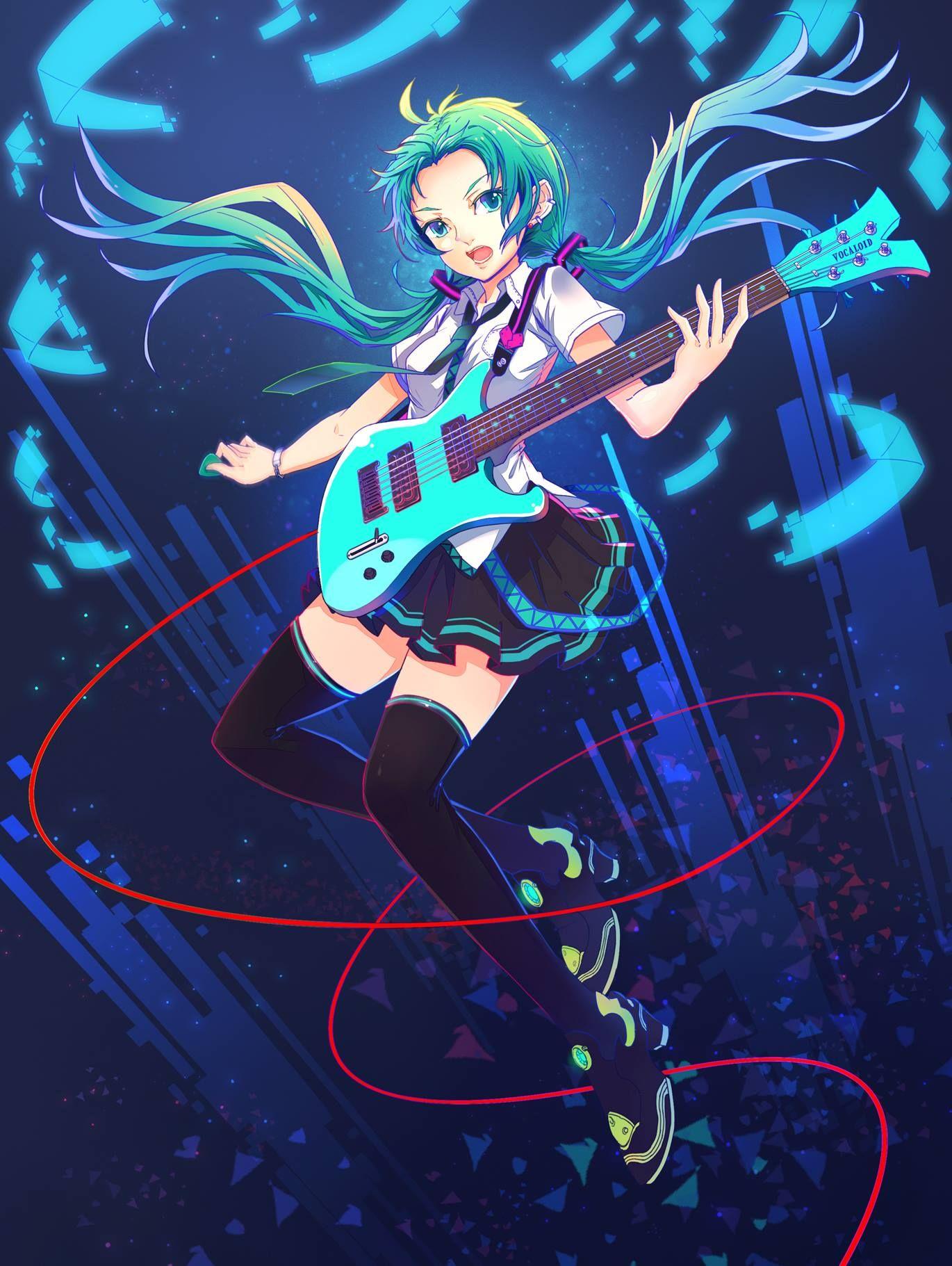 Vocaloid Hatsune Miku art by じゅん (Pixiv) Hatsune miku