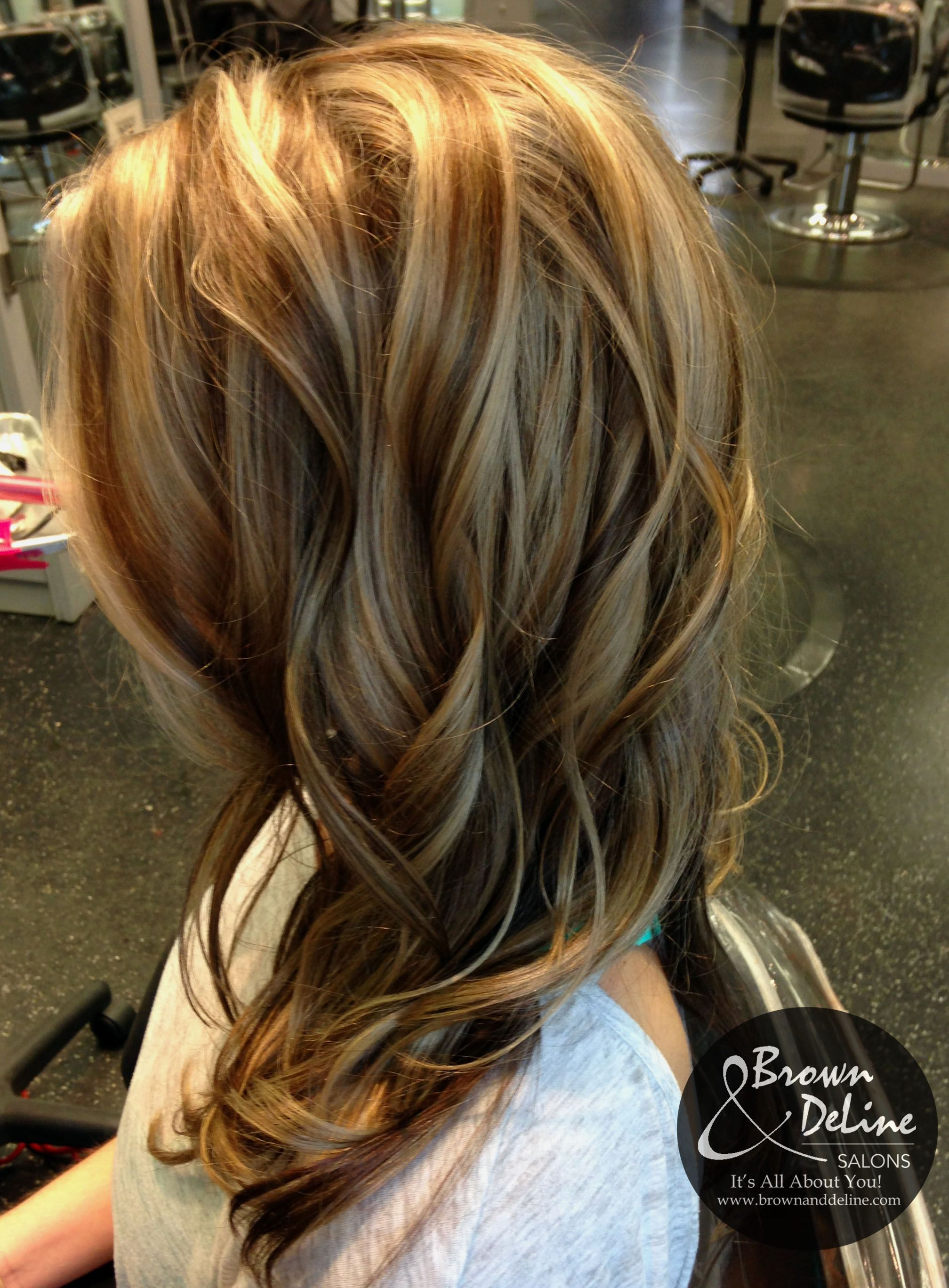 A little darker blonde with caramel lowlights, this ...