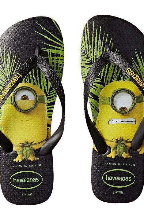 87bad174b3d1 Havaianas Minions Flip Flops (Black) Women s Sandals - Havaianas ...