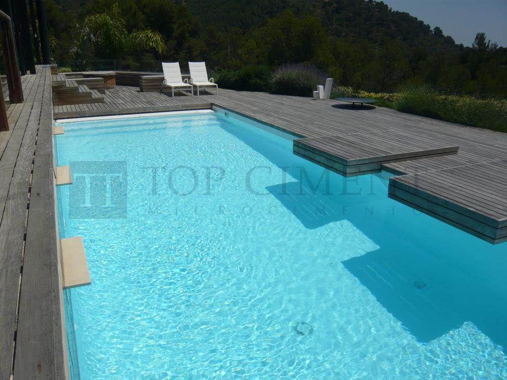 Revestimiento continuo de piscinas con microcemento mas - Microcemento para piscinas ...