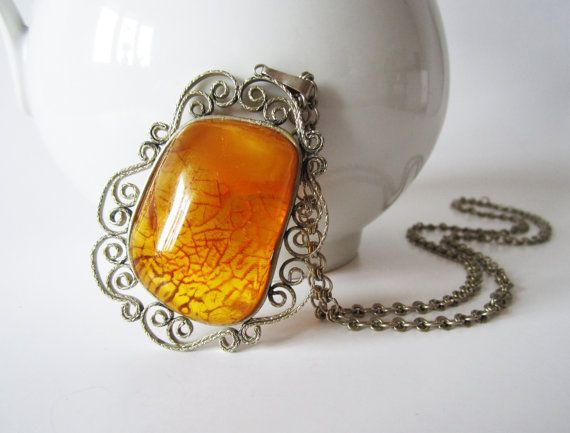 Vintage huge baltic amber pendant necklace genuine honey baltic vintage huge baltic amber pendant necklace by vintagedreambox 9600 aloadofball Gallery