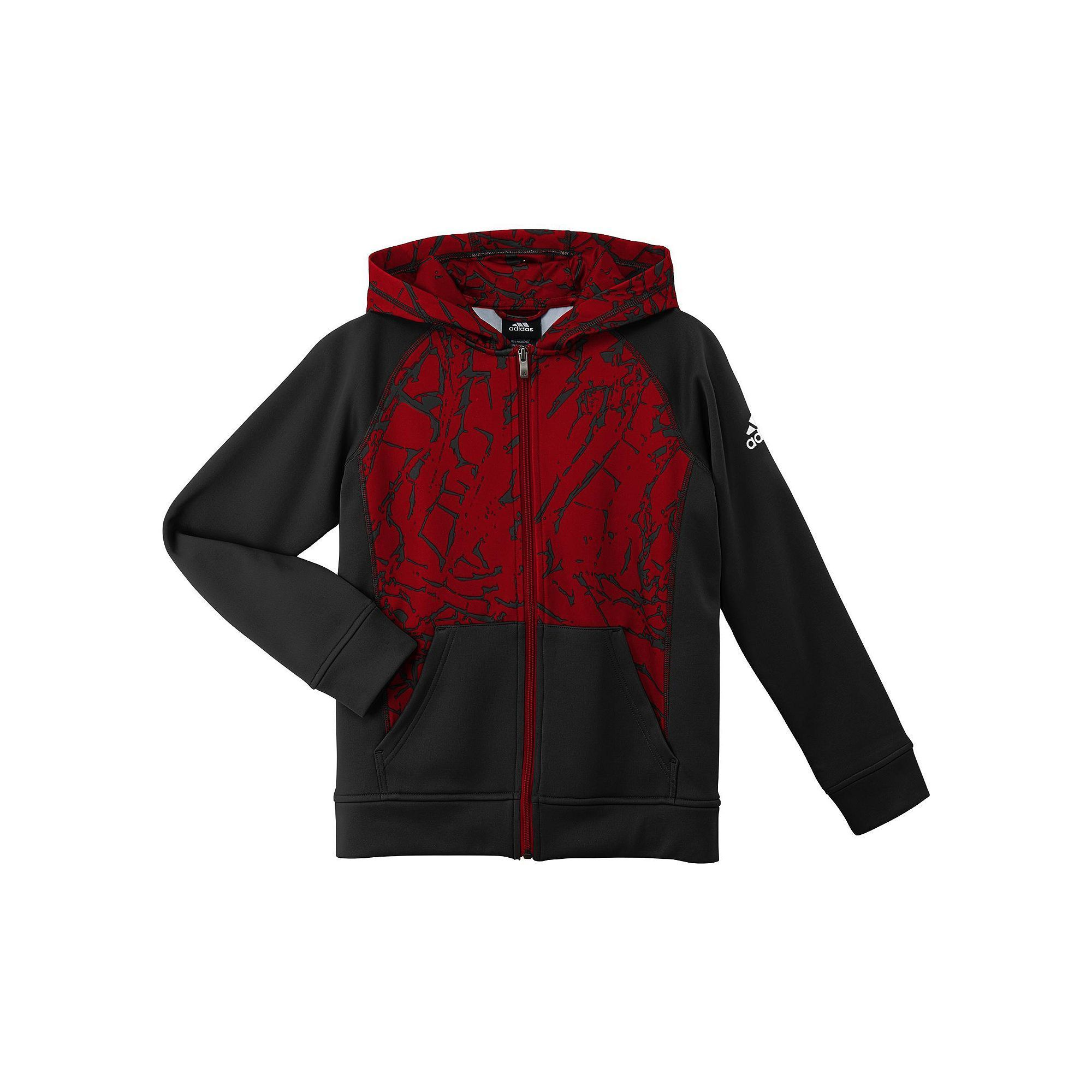 red and black adidas hoodie