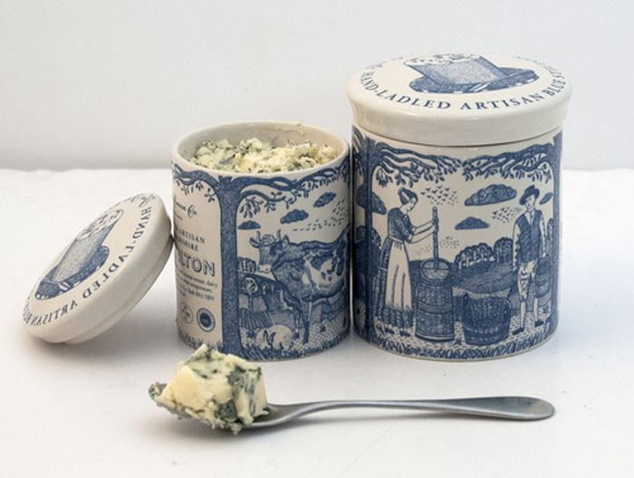 lovely packaging for some fresh stilton cheese