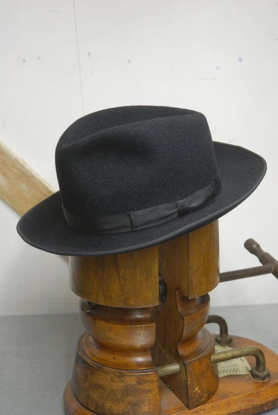 Vintage 50 39 S Black European German Fur Felt Fedora Trilby Hat By Rekord Eu 56 Uk 6 7 8 Us 7 Hats Hats For Men Trilby Hat