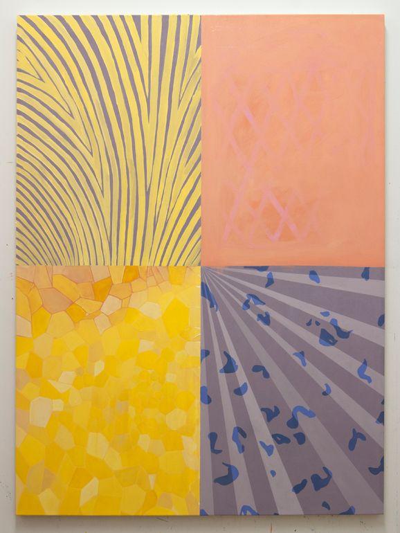 "Saatchi Art Artist: Amelia Midori Miller; Oil 2014 Painting ""Four Corners"""