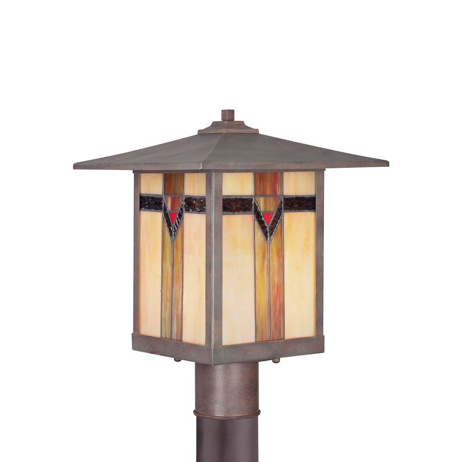 Allen Roth Vistora 14 9 In H Bronze Post Light Lowes Com Post Lights Outdoor Flush Mount Lights Flush Mount Lighting