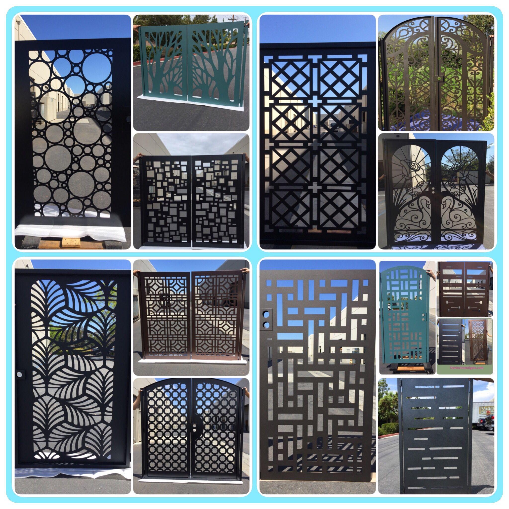 Modern Davinci Gate Puertas De Aluminio Exterior Protectores De Ventanas Puertas De Acero