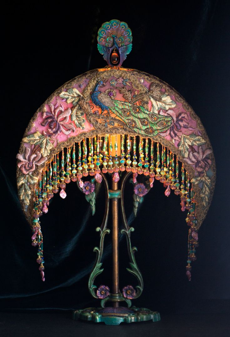 Beaded Victorian Lampshades and Antique Lamps by Nightshades ...