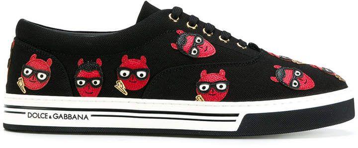 devil designer patch Brooklyn sneakers - Black Dolce & Gabbana lqU4wYvr3N
