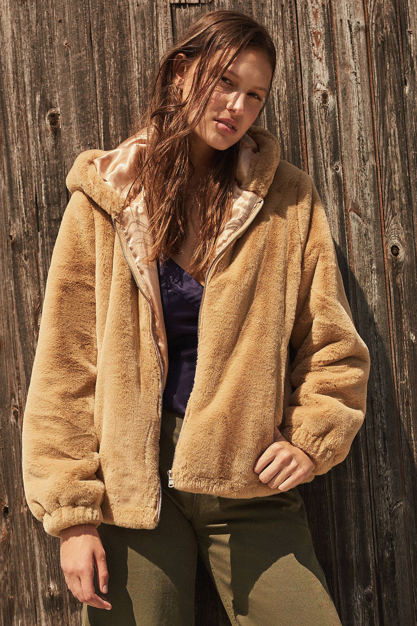 099c4dee4 Shop UO Lilly Zip-Up Faux Fur Jacket at Urban Outfitters today. We ...