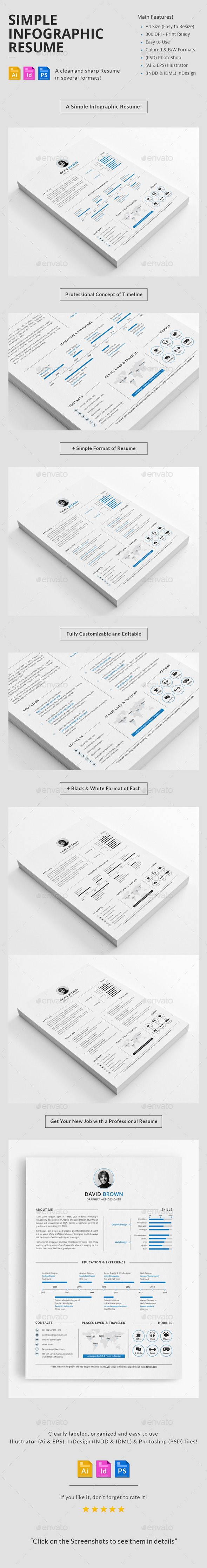 Simple Infographic Resume  Infographic Resume Resume Template
