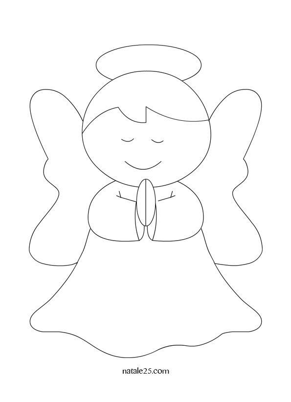 Angelo Che Prega Da Colorare Mandala Natalizi Angeli Bambini Di