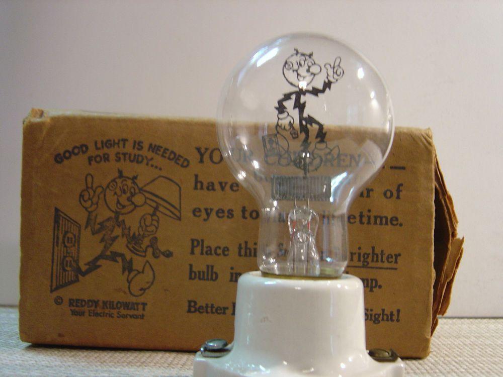 Attractive RARE Aerolux Reddy Kilowatt Figural Neon Filament Light Bulb (1940u0027s)