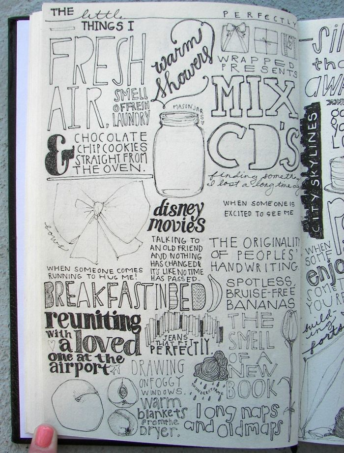 Can a sketchbook double as an art journal? It seems to be a place where art and words can come together.