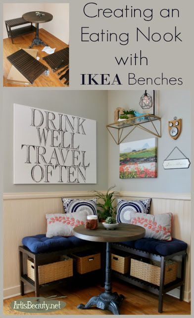Creating An Eating Nook With Ikea Benches Art Is Beauty Ikea Bench Home Decor Bedroom Furniture Redo